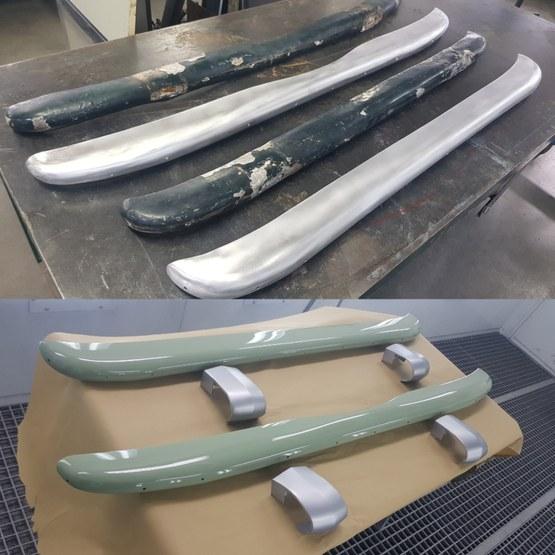 Aluminium delen voor Siata Daina coupe 1951